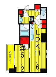 ザ・パークハビオ浅草駒形[10階]の間取り