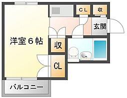 メゾンローズ[3階]の間取り