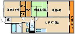 モアレ大久保[3階]の間取り