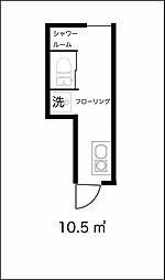 サークルハウス四つ木壱番館[105号室]の間取り