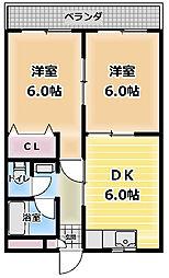 大阪府門真市本町の賃貸マンションの間取り