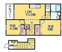 シンセリートマツダ[2階]の間取り