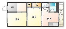 大和マンション[3階]の間取り