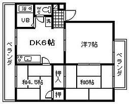 ラフィーネMAYU B棟[208号室]の間取り