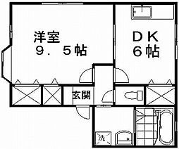 新潟県新潟市中央区山二ツ3丁目の賃貸アパートの間取り