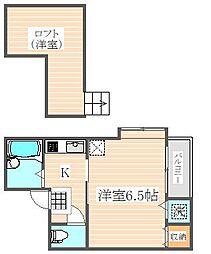 ハピネス箱崎[2階]の間取り