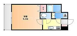 JR宇野線 備前西市駅 徒歩3分の賃貸マンション 5階1Kの間取り