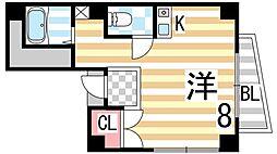 西健野崎ビル[4D号室]の間取り