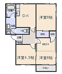 ファンタジアA[2階]の間取り