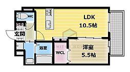 BO BEDRE KOSAKA[2階]の間取り