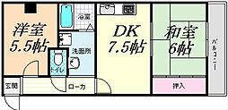 TMコーポアビコ[305号号室]の間取り