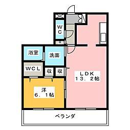 HAZ本星崎[2階]の間取り