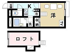 レオパレス冨田III[1階]の間取り