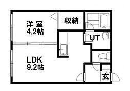 Chanbre南郷[3階]の間取り