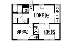兵庫県伊丹市鴻池4丁目の賃貸マンションの間取り