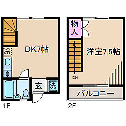 [テラスハウス] 神奈川県川崎市中原区井田1丁目 の賃貸【/】の間取り