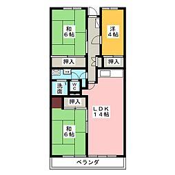 サンハイツ八事ふじみ A棟[2階]の間取り