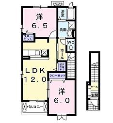 ベルメゾン弐番館[2階]の間取り