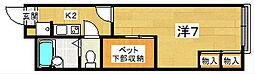レオパレスWild Boar[1階]の間取り