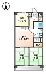 2清邦ビル[4階]の間取り
