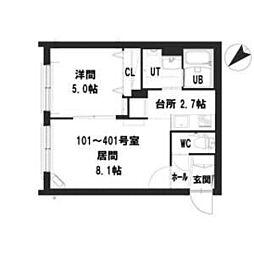 仮)グランメール 本郷通12南 3階1LDKの間取り