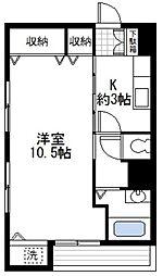 神奈川県横浜市中区矢口台の賃貸マンションの間取り