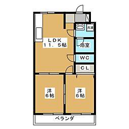 キャッスルエミコ[2階]の間取り