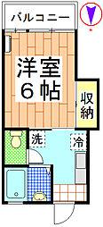 サンコーポ小川[202号室]の間取り