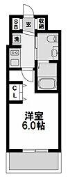エステムコート新大阪リンクス 9階1Kの間取り