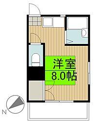 安田ビル[3階]の間取り