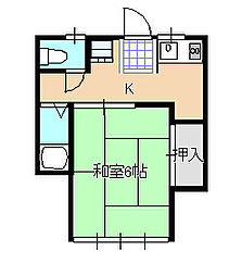 メゾンさかえ[2階]の間取り