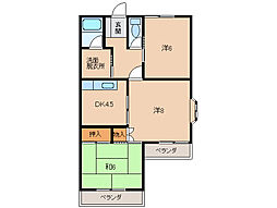 アルモニー松江[2階]の間取り