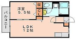 シャルム笹原[1階]の間取り