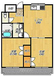 エステート野崎[7階]の間取り