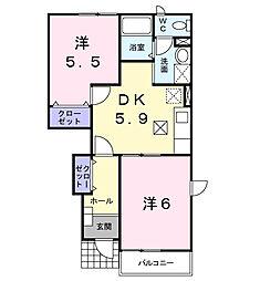 ファミ−ルメゾンC[1階]の間取り