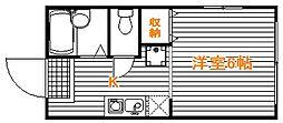 埼玉県坂戸市泉町の賃貸アパートの間取り