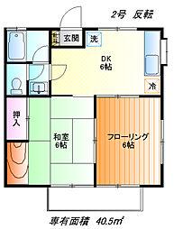 クオリティハウスB[1f号室]の間取り