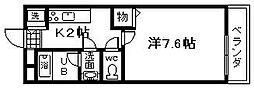 大阪府岸和田市藤井町2丁目の賃貸アパートの間取り