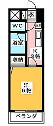 リーヴェルステージ横浜矢向[3階]の間取り