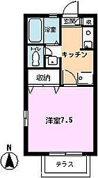 サンセールSATSUKI[101号室]の間取り