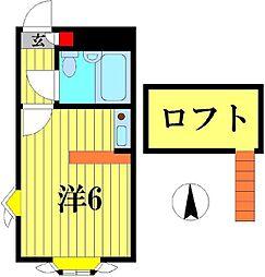 千葉県柏市青葉台2の賃貸アパートの間取り