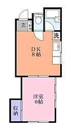 ミヤマハウス[1階]の間取り