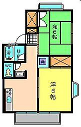 亀田ハイツ[1階]の間取り