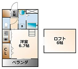 シティハイム3&3[2階]の間取り