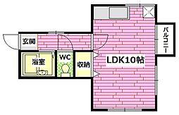 築地アパート[1階]の間取り