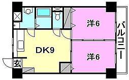 グランアルブル山越III[306 号室号室]の間取り