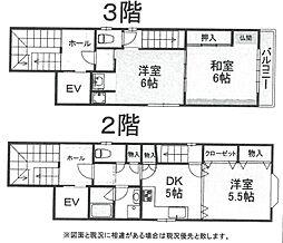 北村ビル[2階・3階号室]の間取り