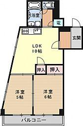 第二平木マンション[503号室号室]の間取り