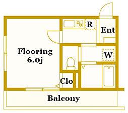 エクセルコート[1階]の間取り