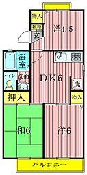 ロイヤルタウン泉CD[B102号室]の間取り